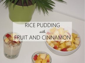 Rice Pudding with Cinnamon and Fruit